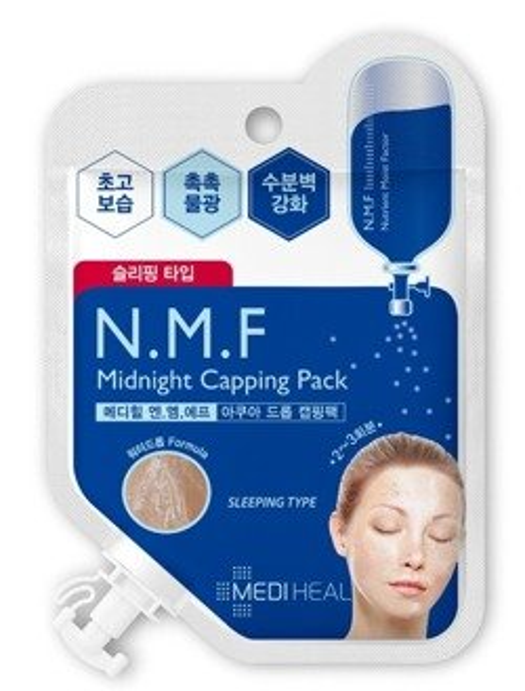 Mediheal N.M.F Midnight Capping Pack Maska-ampułka nawilżająco-wygładzająca do twarzy