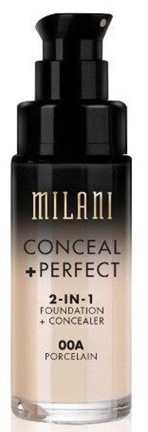Milani Conceal+Perfect 2in1 Foundation+Concealer Podkład kryjący o właściwościach korektora 00A Porcelain