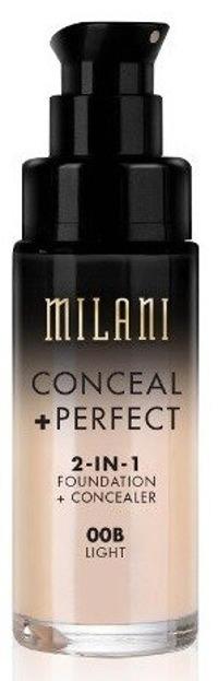 Milani Conceal+Perfect 2in1 Foundation+Concealer Podkład kryjący o właściwościach korektora 00B Light