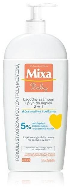 Mixa Baby Łagodny szampon i płyn do kąpieli 2w1 400ml