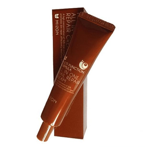 Mizon All in One Snail Repair Cream - Regenerujący krem do twarzy z zawartością śluzu ślimaka 35ml