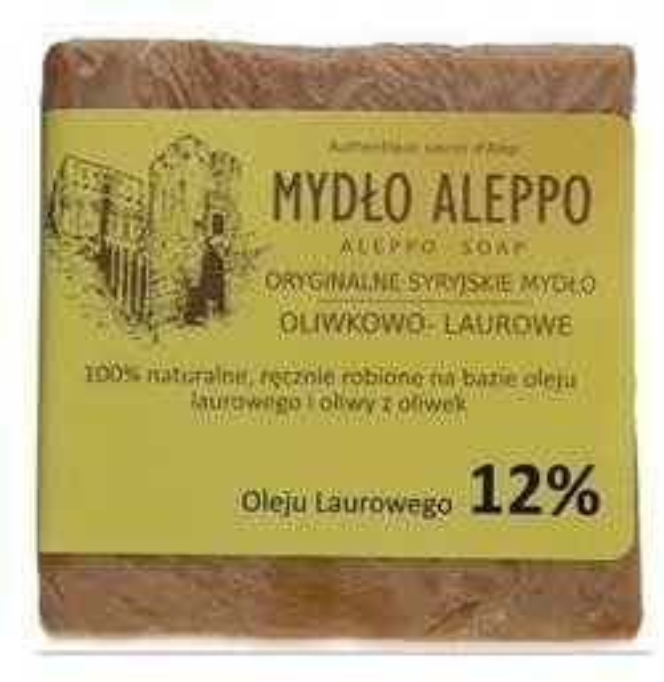 Mydło Aleppo syryjskie oliwkowo-laurowe 12% 200g