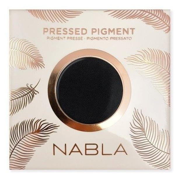 NABLA Feather Edition Pressed Pigment  Cień do powiek Pitch Black Wkład