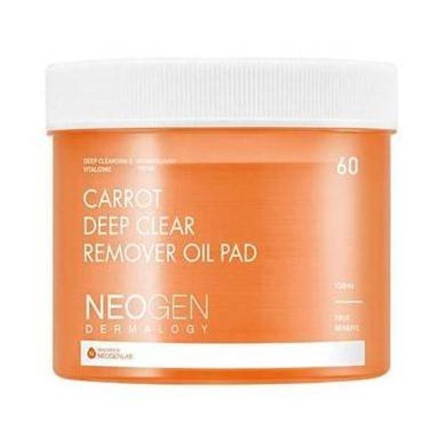 NEOGEN Carrot Deep Clear Remover Oil Pad Oczyszczające płatki do twarzy z olejem marchwiowym 150ml/60szt