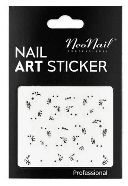 NEONAIL Naklejki na paznokcie Black&white  2804-25