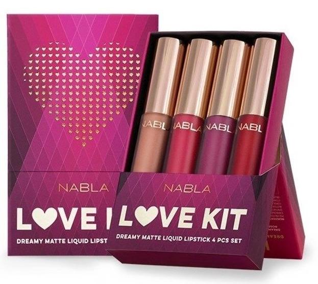Nabla Love Kit Zestaw 4 matowych pomadek w płynie