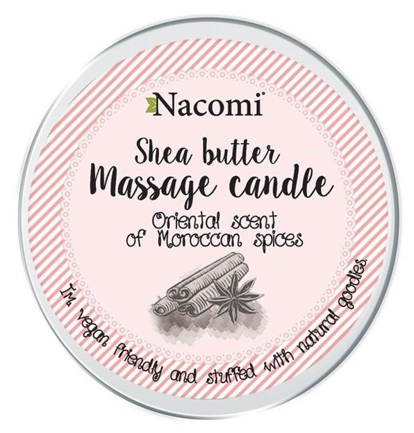 Nacomi Świeczka do masażu z masłem shea o zapachu marokańskich przypraw 150ml