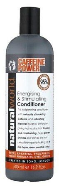 Natural World Caffeine Power Energising&Stimulating Conditioner Stymulująca odżywka do włosów z kofeiną 500ml