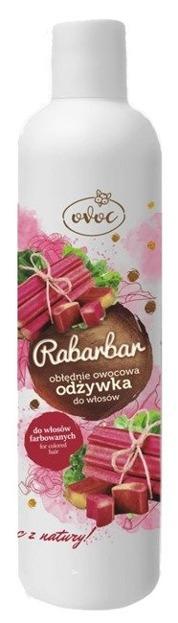 OVOC Odżywka do włosów farbowanych Rabarbar 300ml