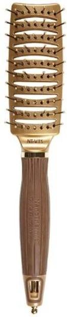 Olivia Garden Szczotka do włosów Nanothermic NT-VTS gold/brown