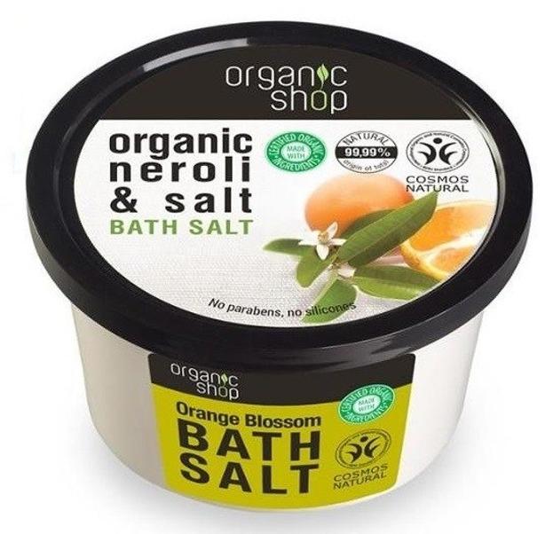 Organic Shop Sól do kąpieli Kwiat pomarańczy 250ml