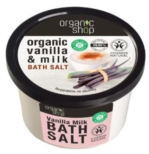 Organic Shop Sól do kąpieli Wanilia i Mleko 250ml