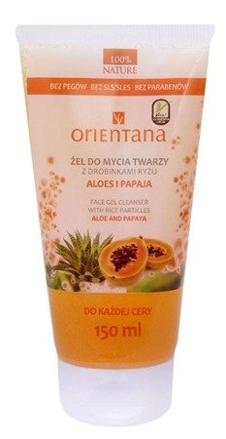 Orientana Żel do mycia twarzy Aloes i Papaja 150ml