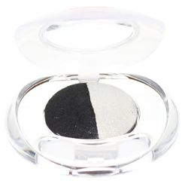 PUPA Luminys Multi-effect Baked Duo Eyeshadow, 07 Black/ White