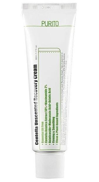 PURITO Centella Unscented Recovery Cream Bezzapachowy regenerujący krem do twarzy z wąkrotą azjatycką 50ml