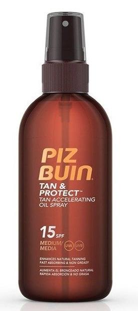 Piz Buin Tan & Protect Olejek do opalania 15SPF 150ml