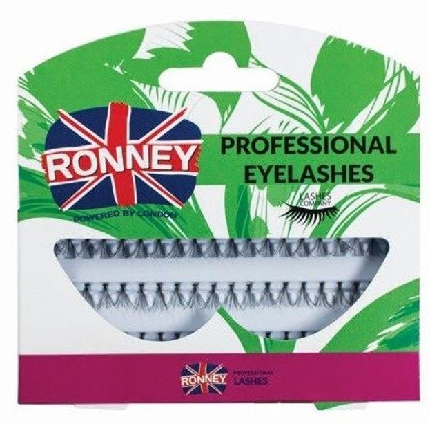 Ronney Professional Eyelashes Kępki sztucznych rzęs z węzełkiem 60 szt. Krótkie RL 00033