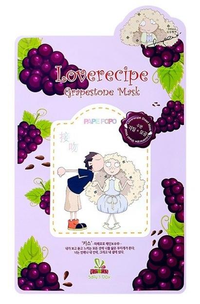 Sallys Box Loverecipe Grapestone Mask Celulozowa maseczka w płachcie 20ml