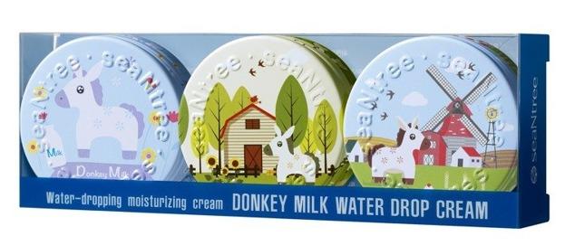 SeaNtree Donkey Milk Water Drop Cream 3in1 Set Zestaw 3 kremów nawilżających 3x35g