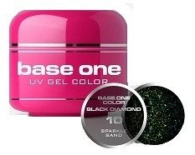 Silcare Base One Black Diamond 10 Sparkle Sand Żel kolorowy 5g