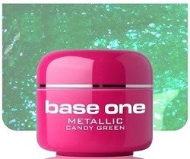 Silcare Base One Metalic 16 Candy Green Żel kolorowy 5g