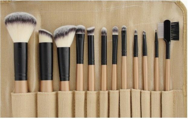 Sunshade Minerals- Zestaw 12 pędzli do makijażu twarzy i oczu