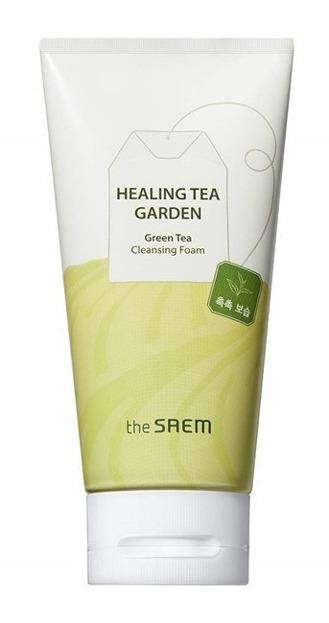 The SAEM Healing Tea Garden Green Tea Cleansing Foam Pianka do mycia twarzy 150ml