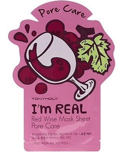 TonyMoly I`M Real Red Wine Mask Sheet Pore Care Maska do twarz w płachcie
