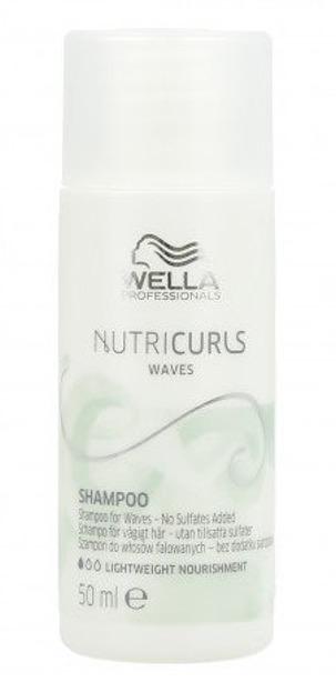 Wella NutriCurls Waves Delikatny szampon do włosów falowanych 50ml