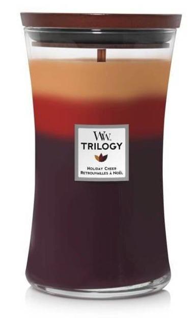 WoodWick świeca duża Triology Holiday Cheer 610g