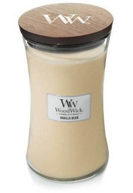 WoodWick świeca duża Vanilla Bean 610g