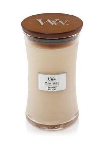 WoodWick świeca duża White Honey 610g
