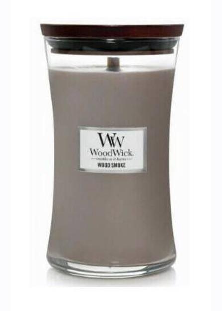 WoodWick świeca duża Wood Smoke 610g