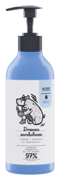 YOPE WOOD Naturalny żel pod prysznic Drzewo sandałowe, szafran i patchouli 400ml