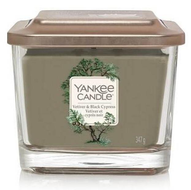 Yankee Candle Elevation świeca średnia Vetiver&Black Cypress 347g