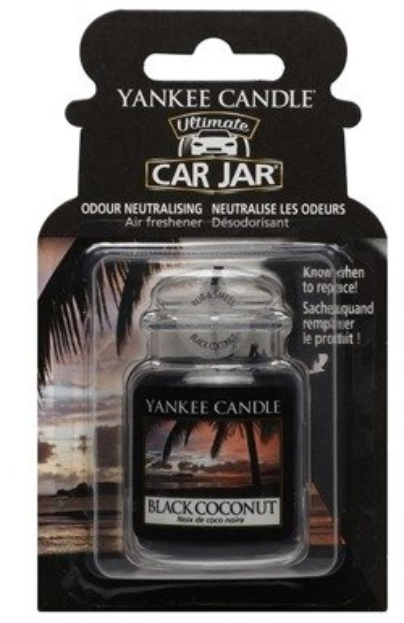 Yankee Candle car jar Ultimate - Odświeżacz samochodowy Black Cocount  Zawieszka słoik1 szt.