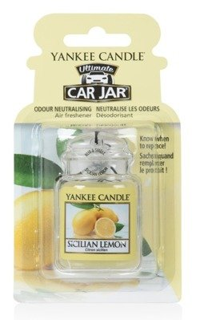 Yankee Candle car jar Ultimate Odświeżacz samochodowy Zawieszka słoik Sicilian Lemon 1szt.
