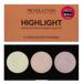Makeup Revolution Highlighter Palette - Paleta 3 rozświetlaczy do twarzy i ciała Highlight
